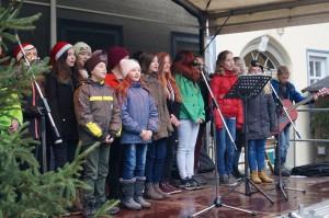 Chorauftritt Weihnachtsmarkt